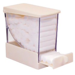 COTTON ROLL DISPENSER PULL STYLE WHITE 207CRD-1