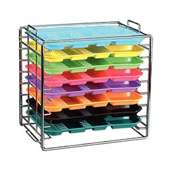 CHROME TRAY RACK FOR SIZE A TRAYS 300TRA