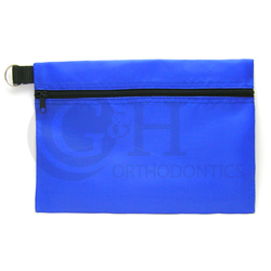 HEADGEAR POUCH ECONOMY ZIPPER W/KEY RING ROYAL NJ208-01