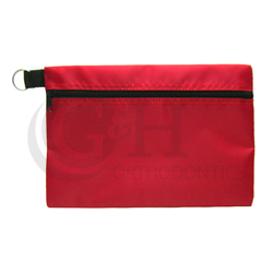 HEADGEAR POUCH ECONOMY ZIPPER W/KEY RING RED NJ208-02