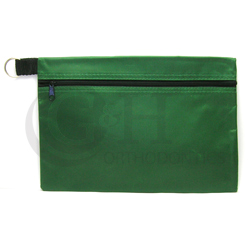 HEADGEAR POUCH ECONOMY ZIPPER W/KEY RING GREEN NJ208-04