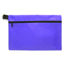 HEADGEAR POUCH ECONOMY ZIPPER W/KEY RING PURPLE NJ208-05