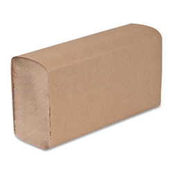"""SINGLE FOLD TOWELS NATURAL 9.5"""" x 10.62"""" 1PLY SPC01800"""